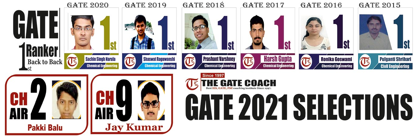 GATE Chemical Engineering Coaching in Delhi, GATE Chemical Engineering Coaching in India, GATE Chemical Engineering Best Coaching Delhi